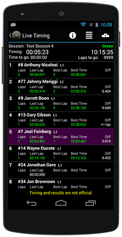 Race Monitor Live Timing on Android